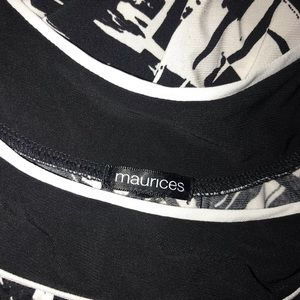 Maurice's black and white dress top